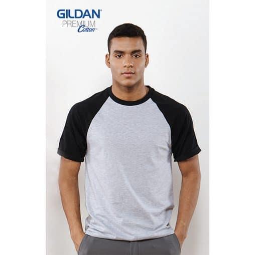 G76500 Gildan Unisex Raglan Baseball T-Shirt