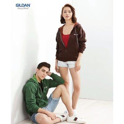 G18700 Gildan Heavy Blend Adult Vintage Full Zip Hooded Sweatshirt