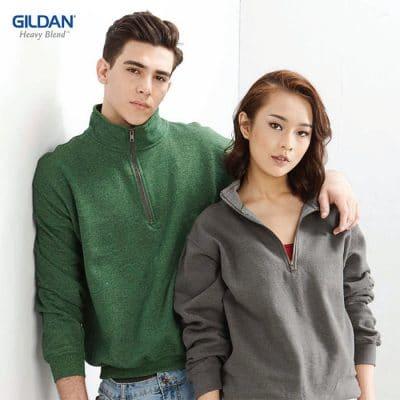 G18800 Gildan Heavy Blend Adult Vintage Cadet Collar Sweatshirt