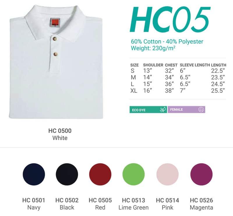 HC05 Color Chart