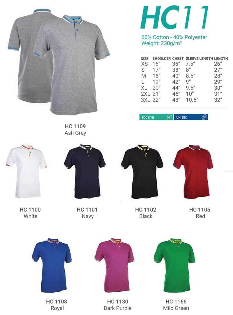 HC11 Color Chart