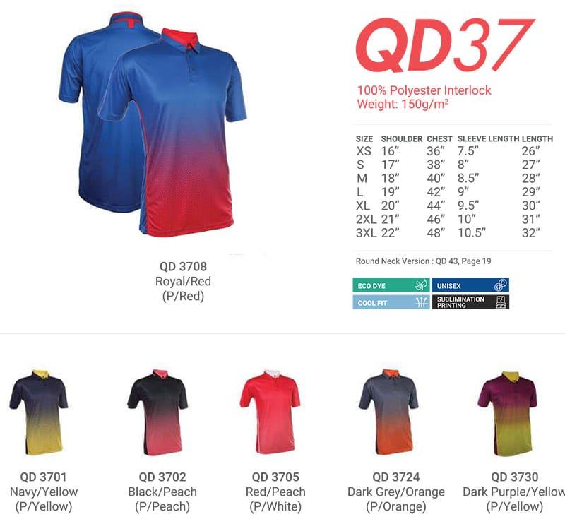QD37 Color Chart