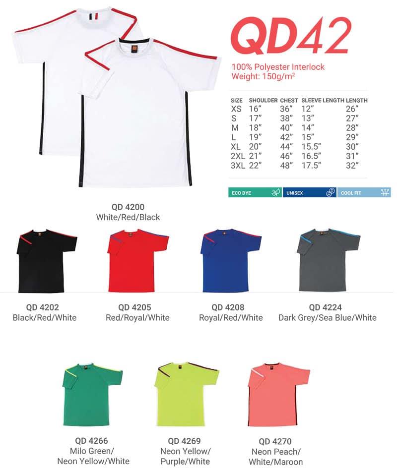 QD42 Color Chart