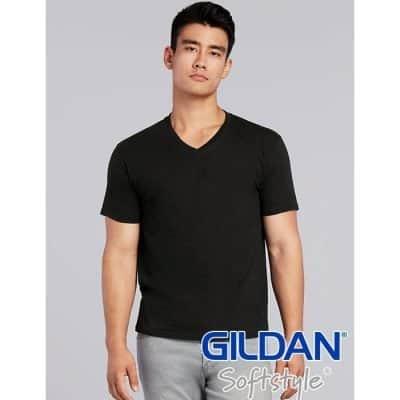 handsome and smart body man wearing v neck black color t shirt