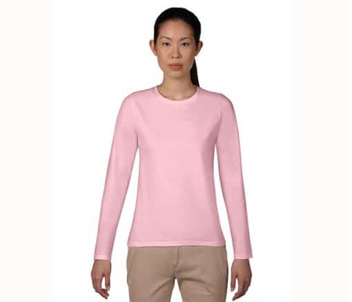 G76400L Gildan Premium Cotton Long Sleeve Ladies T-Shirt