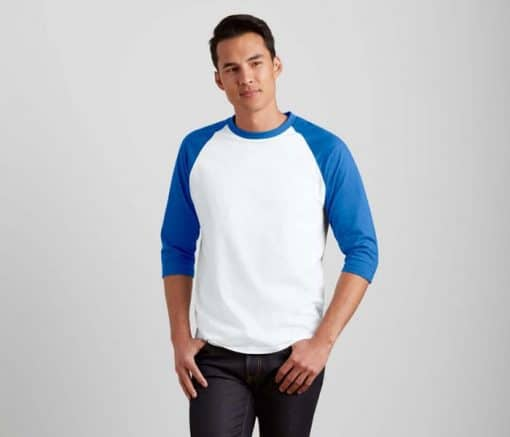 G76700 Gildan 3/4 Raglan Baseball T-Shirt