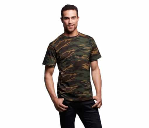 Anvil Adult Midweight Camouflage Army Tee