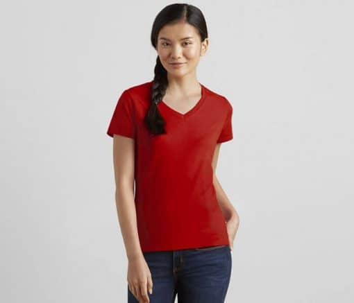 G63V00L GILDAN V-NECK FEMALE T-SHIRT