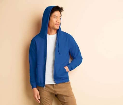 G88600 Gildan Adult Full Zip Hooded Sweatshirt