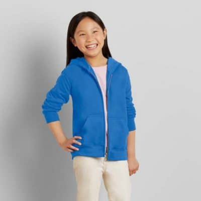 Gildan Kid Full Zip Hooded Sweatshirt