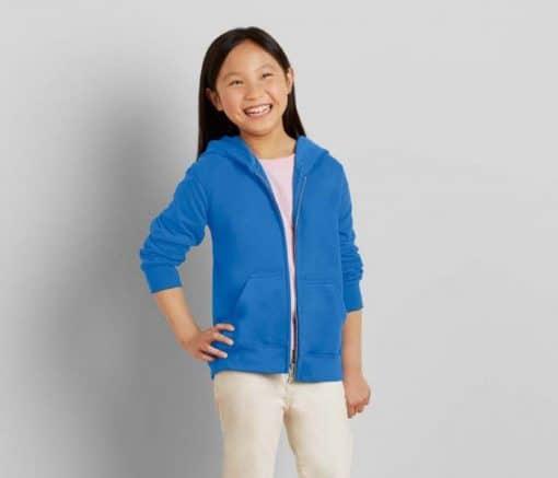 G88600B Gildan Kid Full Zip Hooded Sweatshirt