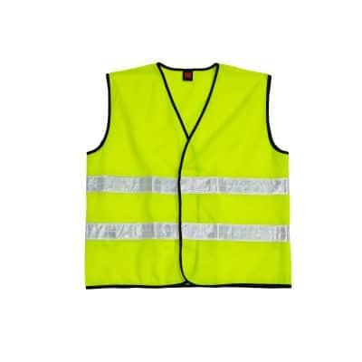 oren sport neon yellow color reflective safety vest
