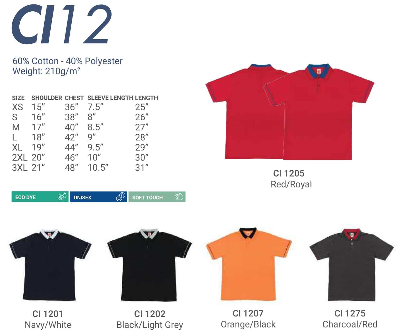 CI12 Color Chart