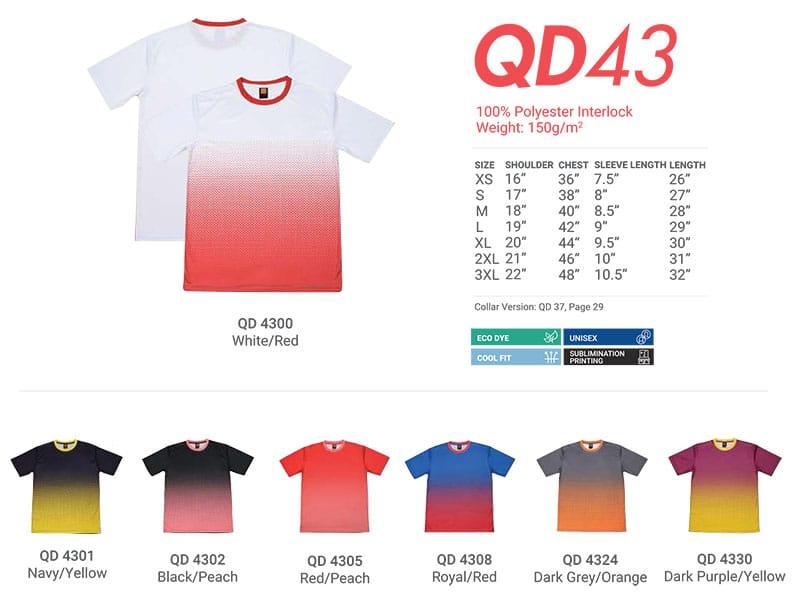 QD43 Color Chart