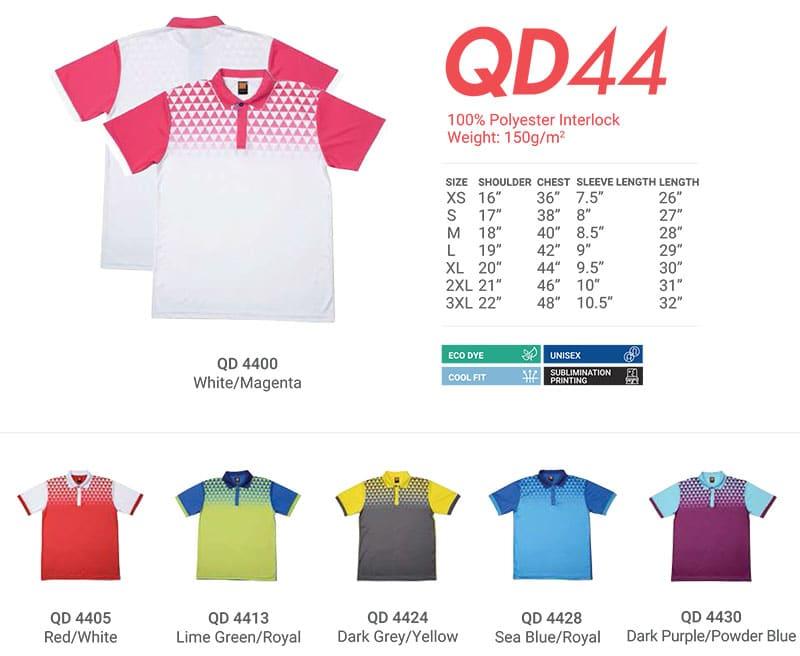 QD44 Color Chart