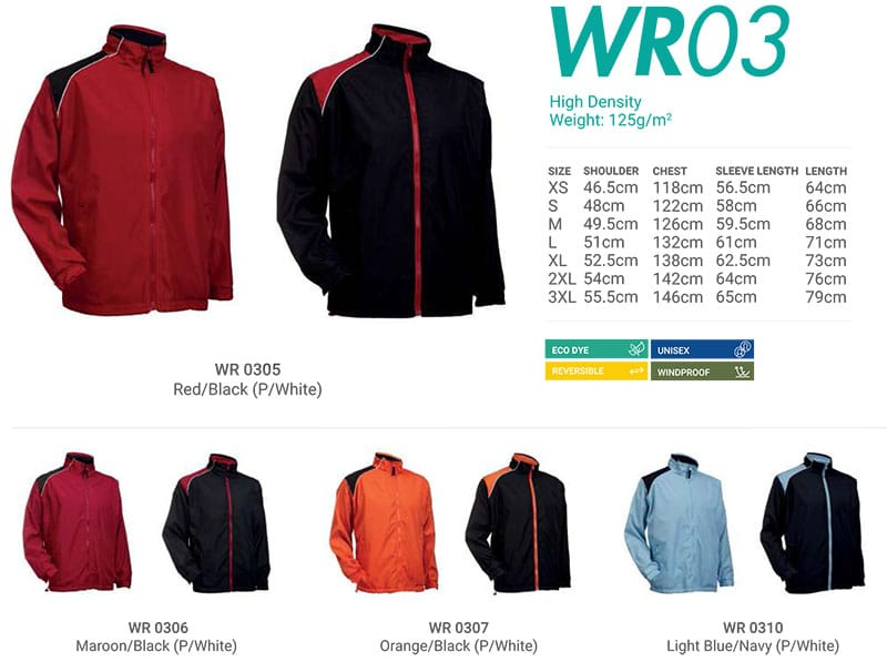WR03 Color Chart