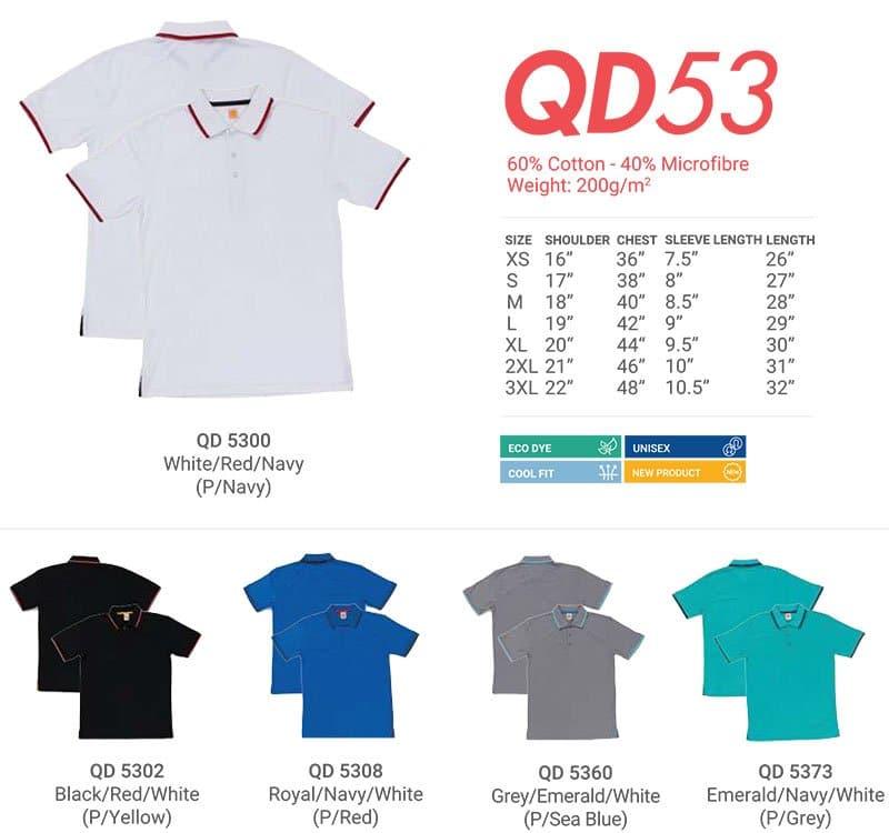 QD53 Color Chart