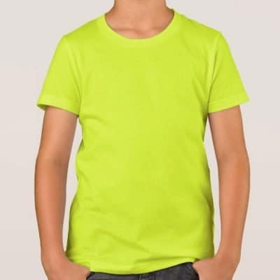 RQDY6103_Quick Dry Kid Round Neck T-Shirts_Fluorescent_yellow