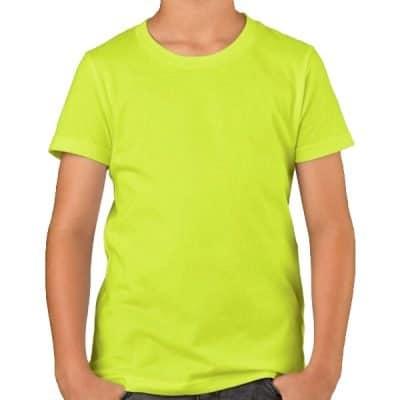 kid quick dry t shirt Fluorescent yellow