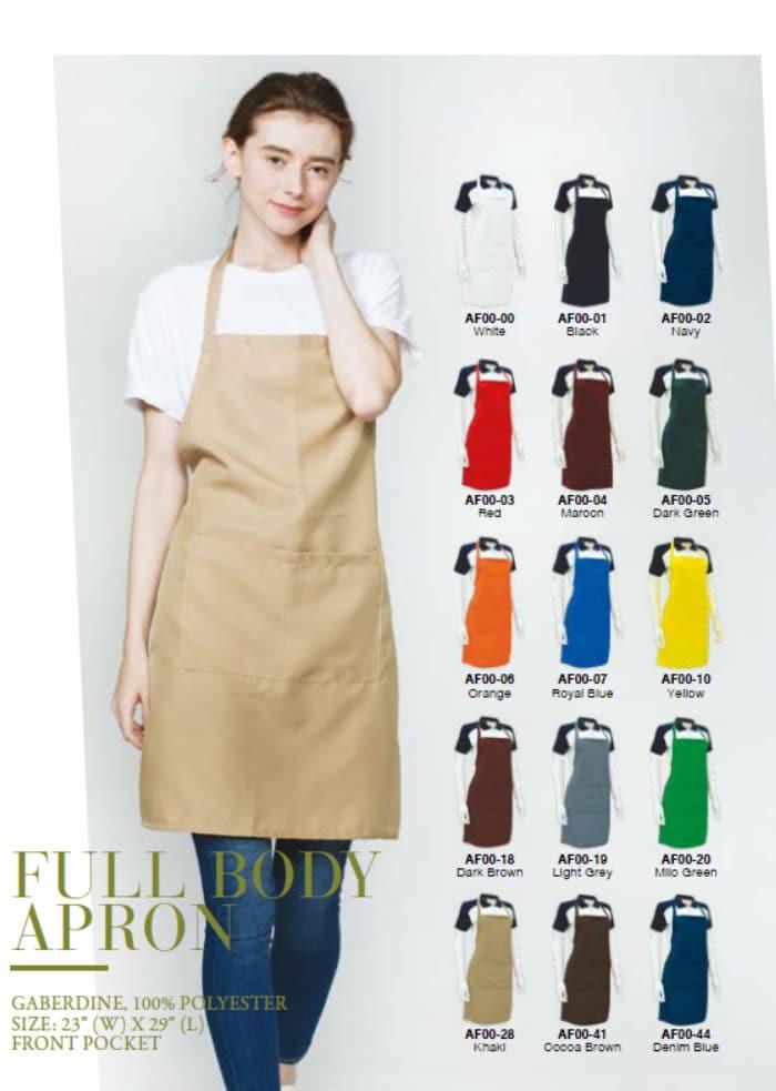 EAF001 Full Body Polyester Apron 1