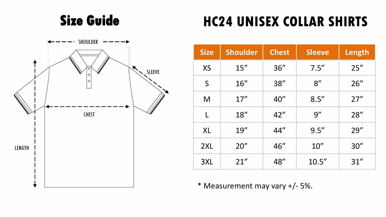 HC24 Size Chart