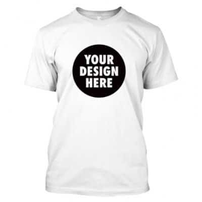 Round Neck T-Shirt with customized A4 size printing