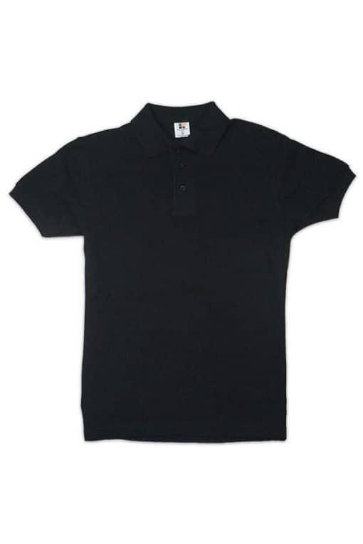 honeycomb kid polo tshirt black