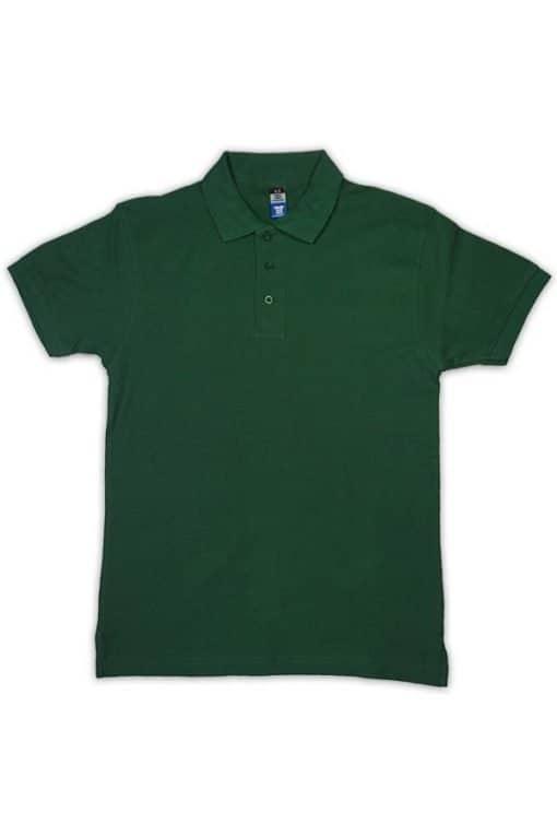honeycomb kid polo tshirt bottle green