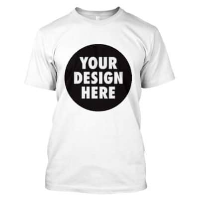 Round Neck T Shirt with customized A3 size printing
