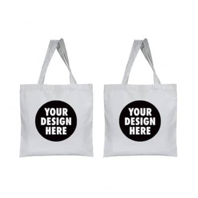 Tote bag with customized two side A4 size printing
