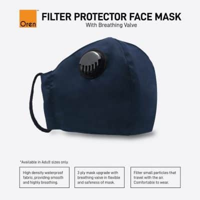 PE0103 Filter Protector Face Mask with Breathing Valve